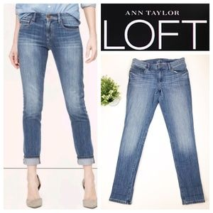 Ann Taylor LOFT Light Wash Relaxed Skinny Jeans